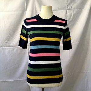 BODEN Rainbow Bold Stripe Knit Top Size XS